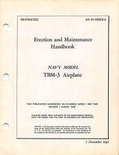 TBM-3 Avenger Erection & Maintenance Flight Operating Instructions Flight Manual