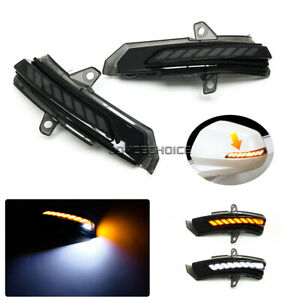 2X LED Dynamic Side Mirror Sequential Light For Cadillac XT4 XT5 2018 2019 2020