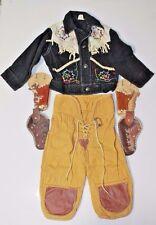 Cowboy 1950 Roy Rogers 2 Gun Holsters Child's Denim Jacket Pants Authentic