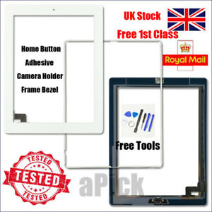 For iPad 2 A1395 A1396 A1397 Screen White Digitizer Touch Replacement Button IC