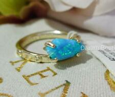 Kendra Scott Julia Turquoise Kyocera Opal Rhodium Plated Ring S/M NWT