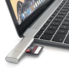 Satechi Aluminum Type-C USB 3.0 and Micro/SD Card Reader for Type-C Devices