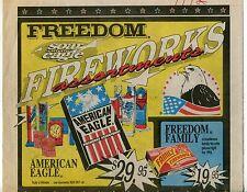 """1992 Vintage Sales Sheet: """"FREEDOM FIREWORKS"""""""