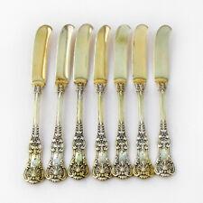 Tiffany Co English King 7 Paté Knives Set Gilt Sterling Pat 1885