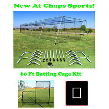 60 Ft Portable Backyard Batting Cage Kit For A Pitching Machine