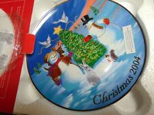 2004 Christmas Trimming The Tree Plate.Original Box.sold & made by Avon
