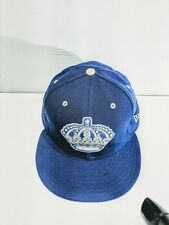 LA Kings New Era 59Fifty Fitted Hat Blue/Gray Crown Size 7⅝