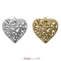 Christmas Tree Decor Hollow Heart Shape Glitter Pendant Ornaments