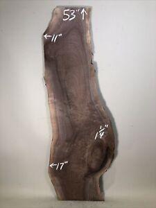 live edge black walnut wood slab figured rustic natural edge