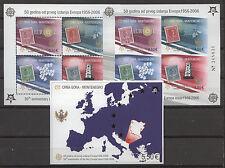 50 ans de l'Europe des marques, CEPT-Monténégro - 3 Bl. ** Neuf sans charnière 2005