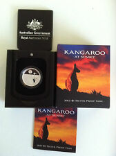 2012 $1 KANGAROO AT SUNSET SILVER PROOF COIN EXCELLENT CONDITION