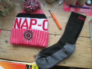 SNAP ON BUNDLE  NEW WOOLLY HAT - NEW SOCK - NEW ORANGE EXTENDED MAGNETIC PEN