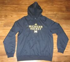 Michigan Wolverines Hockey Mens Hoodie Sweatshirt, Blue, Adidas, Size XL EUC