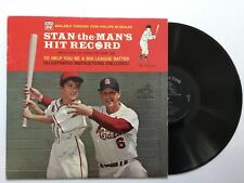 STAN MUSIAL: Stan the Man's HIT RECORD vinyl LP  NM w/ tri-fold insert auto by 3