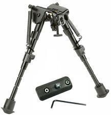 "Rifle Bipod 6"" to 9"" Harris Style Adjustable Spring Legs w/KeyMod Rail Adapter #"
