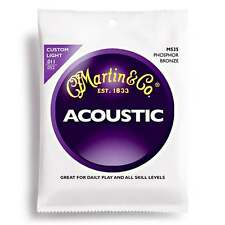 Martin Cuerdas Cuerdas de guitarra acústica de bronce fosforoso M535 luz personalizada 11-52