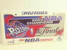 Detroit Pistons 2004 NBA World Champions License Plate and License Plate Cover