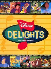 Disney Delights Five Finger Piano Songbook NEW 000310195