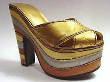 Magnetic Allure Stacked Metallic Platform 16th Cntry Venice Just the Right Shoe