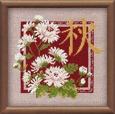 RIOLIS  813  Fleurs et Idéogramme  Autumn  Kit  Point de Croix  Compté