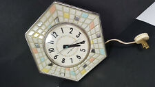 Vintage General Electric Kitchen Wall Electric Clock Rare Tile Style Works Runs