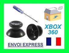 2X JOYSTICK NOIR BOUTON XBOX 360 pour manette XBOX 360 et tournevis torx T8
