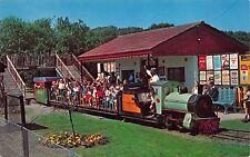 Postcard Miniature Railroad Train Charity Mail East London~112468