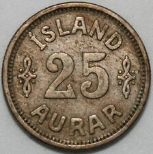 1925   Iceland 25 Aurar   Cupro-Nickel   Coins   KM Coins