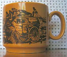 Collectible By Royal Alma Staffordshire Ironstone Mug/Cup Caramel & Chocolate