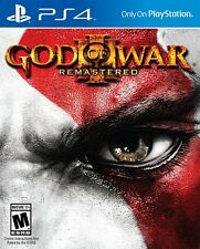NEW God of War III 3: Remastered (Sony PlayStation 4, 2015) Factory Sealed
