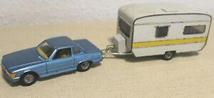 Kellermann® Blech Modellauto Mercedes 440 + Wohnwagen 443 CKO
