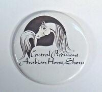 "Vintage Central Piedmont Arabian Horse Show Pin 3.5"" Button Badge Santoro MN"
