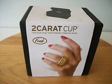 NEW 2-Carat Coffee Ring Cup in Gold and White