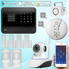 G90B GSM Wifi Wireless Home Security Alarm System,Pet immune PIR,720P IP Camera