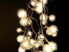 WarmWhite Dandelion Battery Operated 40LED Christmas Wedding String Fairy Lights