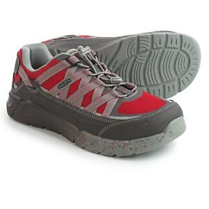 Keen Asheville Work Shoes Mens Alloy Toe ESD Industrial Construction Utility Red