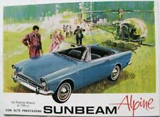 SUNBEAM Alpine Series V 1725cc Car Sales Brochure c1966 #6007/EX/IT Italian