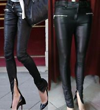 CELEBRYTY Leather PANTS leggings LEDER hose s xs 34 36 38 8 10 12 uk cuir xs s m