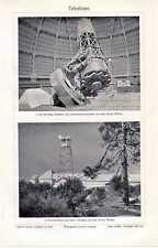 Antique print telescope telescoop Mount Wilson USA 1910