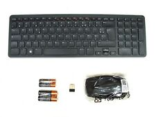 DELL KM713 Wireless Cordless Keyboard & Mouse Set Combo Kit FRENCH Layout NEW