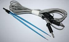 3 Pinzas bipolares Str 15cm- 15 Cm y 18 cm punta 1 mm con cables de 3 Mtr. CE