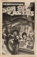 """1973 THE NEW CACTUS BAND """"SON OF CACTUS"""" ALBUM PROMO AD"""