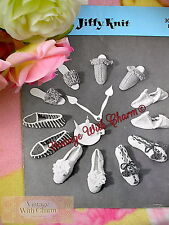 Vintage Knitting Pattern For 6 Styles Of Slippers.  ONLY 1.99 + FREE P&P