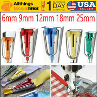 5pcs Sewing Bias Binding Tape Makers Kits Clips Awl Quilter's Quilting Tool New