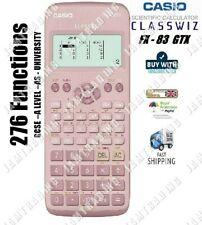 Casio FX-83 GTX CLASSWIZ Scientific Calculator 276 Functions - PINK