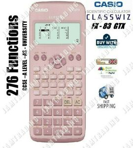 Casio FX-83 GTX GCSE & Higher Grade Scientific Calculator 276 Functions - PINK