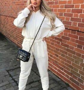 Zara Women's Soft Feel Jumpsuit With Hood Sz M