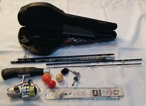 Daiwa Minispin Backpack Travel Fishing Rod System with Case & Ambidextrous Reel