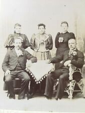 CABINET Card Photo Of Family By Stewart, ELLICOTTVILLE, New York