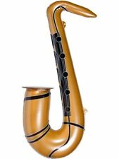 aufblasbares Saxophon ca. 54 cm gold Hawaii Beachparty